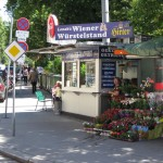 Typical Wrstelstand in the streetscape of Vienna (crossing Whringer Strasse/ Spitalgasse) http://www.logic.univie.ac.at/2009/esi/Photos_A590/Wuerstelstand.jpg (6.7.2012)
