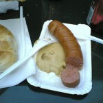 Typical dish available at the Wrstelstand (Burenwurst with mustard and a bun) http://www.fanline08.at/gr/wp-content/uploads/2008/03/burenwurst.jpg (7.6.2012)