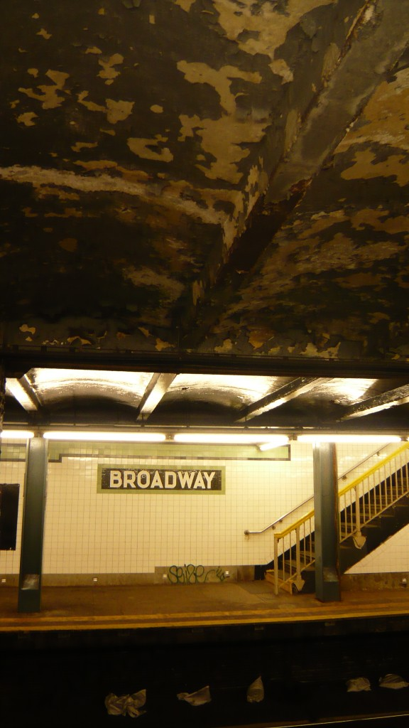 Crappy ceiling on the Broadway station