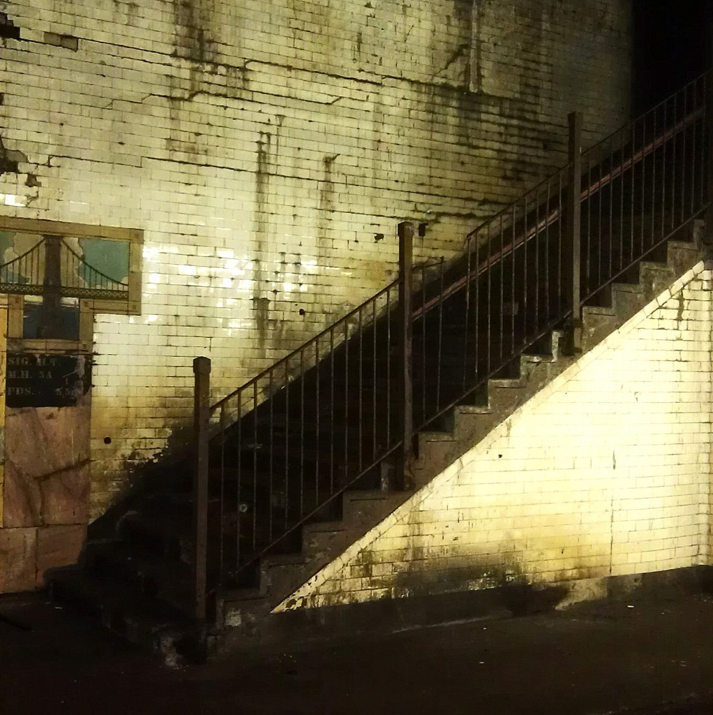 A run-down stairway out of use in Chambers Station: Spooky or beautiful?