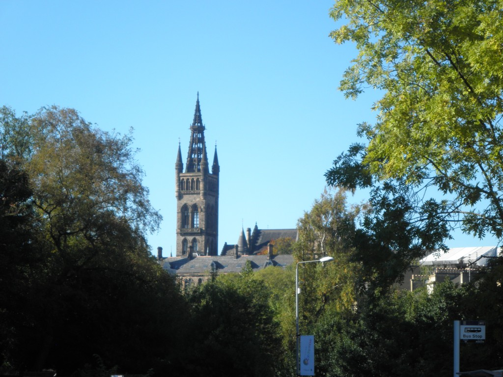 Main building University of Glasgow, located in the West End