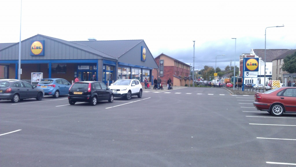 Lidl Supermarket in Possil Park, picture taken by author