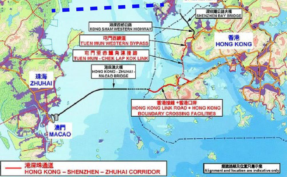 A bridge too far bridge to china threatens hk theprotocity the bridge the map gumiabroncs Image collections