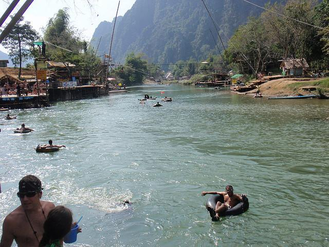 Tubing down the Nam Song River in Vang Vieng, by lawtonjm