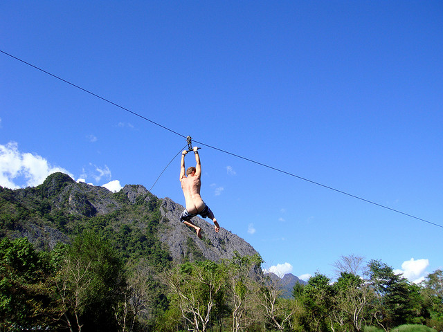 Enthusiastic tuber on the zipline, DSC01711 by jonrawlinson