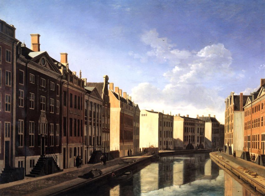 'The bend of the Herengracht in Amsterdam', 1685, Gerrit Adriaenszoon Berckheyde