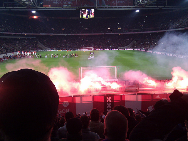 Matches between Ajax and Feyenoord always cause tense atmospheres. Photo by alamagordo