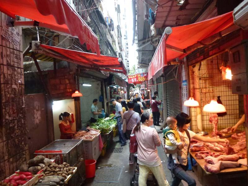 Shopping street in Baishizou, Shenzhen