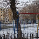 Vandalised playgrounds Livezilor Street