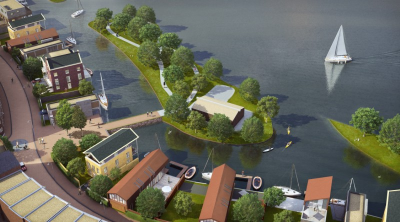 (Rendering of) Waterfront villas of the Goese Schans (source: goeseschans.nl)