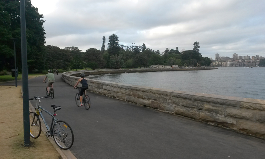 Easy riding in Sydney's Royal Botanic Gardens (Photo: Matt Smith)