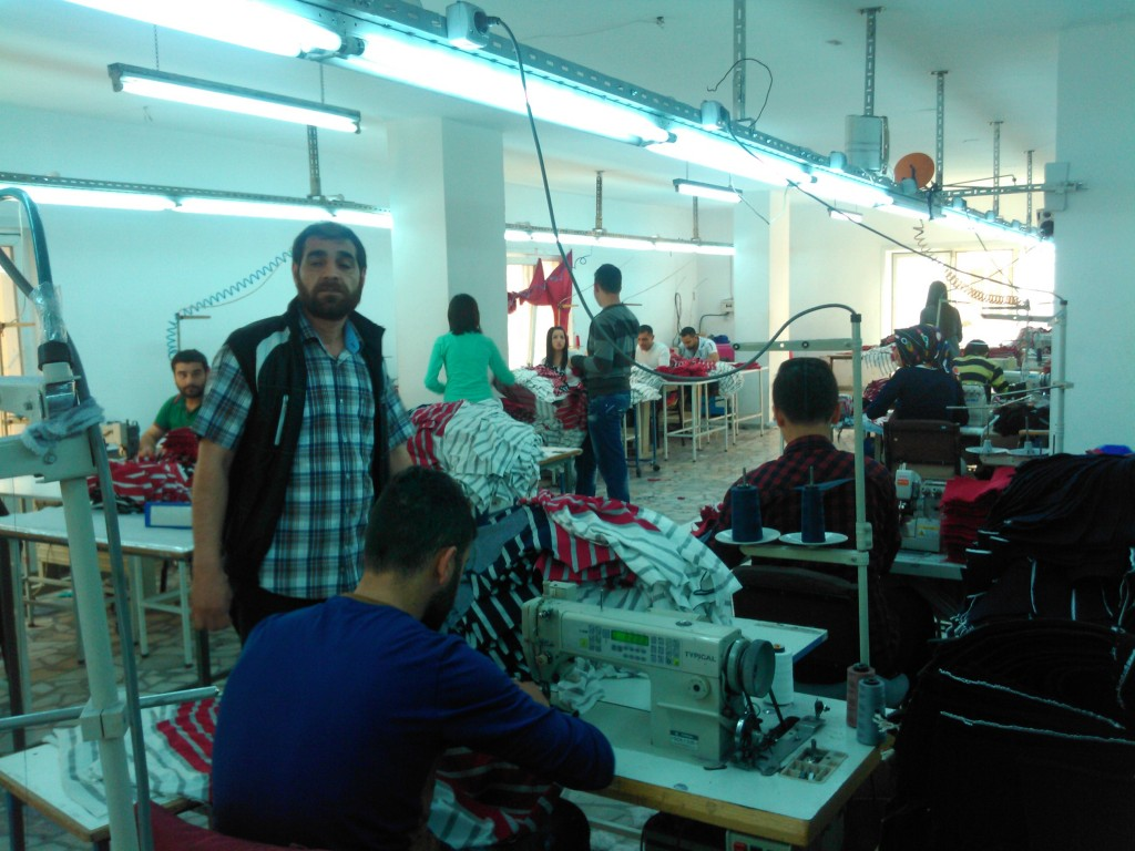 Many residents are employed in one of the sweatshops where clothes are produced.
