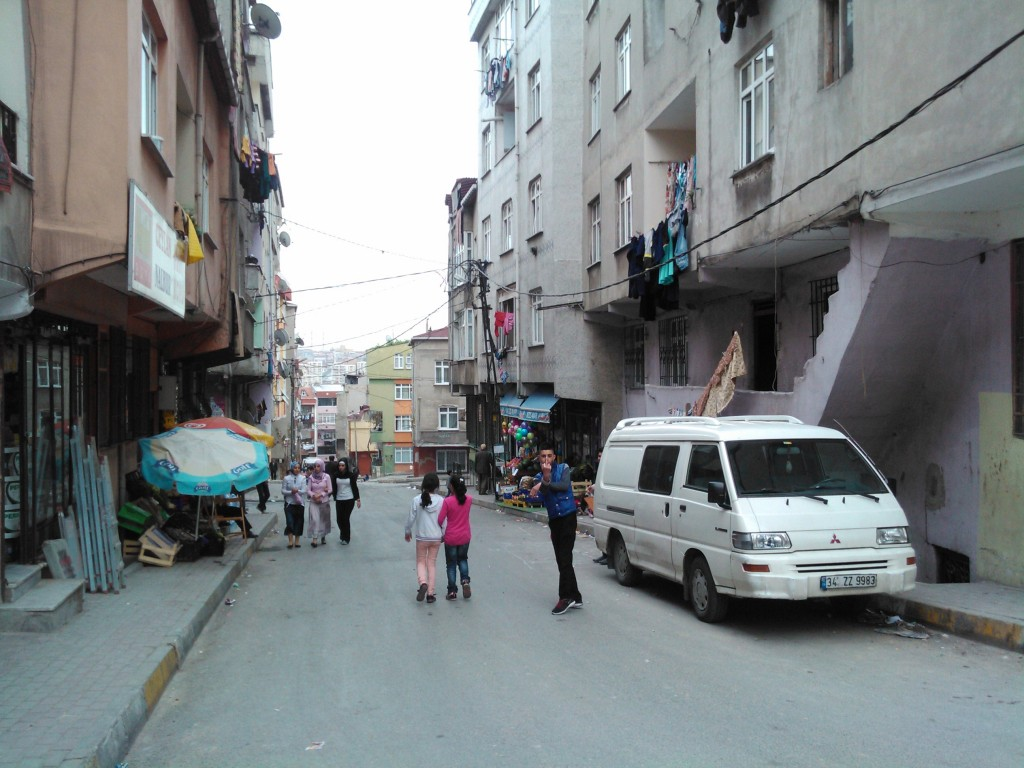 Children and youngsters dominate the Demirkapi's streetscape.