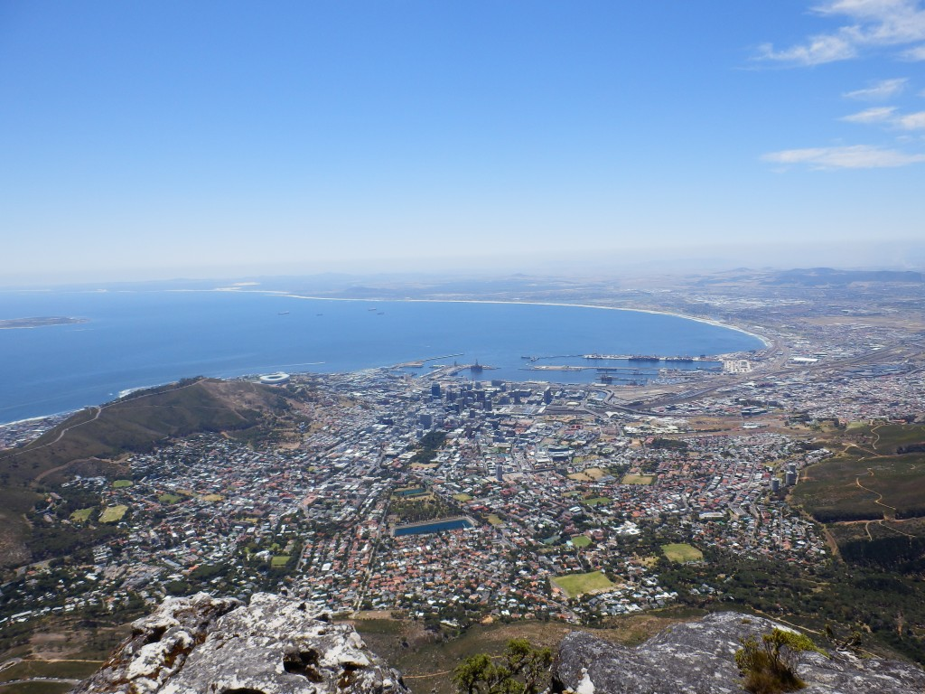 View on Cape Town's City Bowl from the Table Mountain
