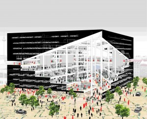 OMA's proposal for the Axel Springer Media Campus (Image Courtesy of OMA)