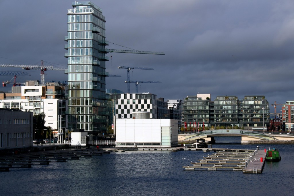 Dublin Docklands under construction in 2008.