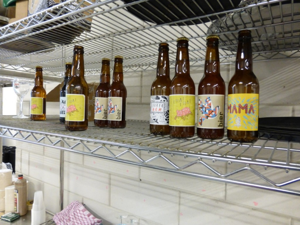 Artistic labels that promote beer for a larger audience. (Photo made by author)