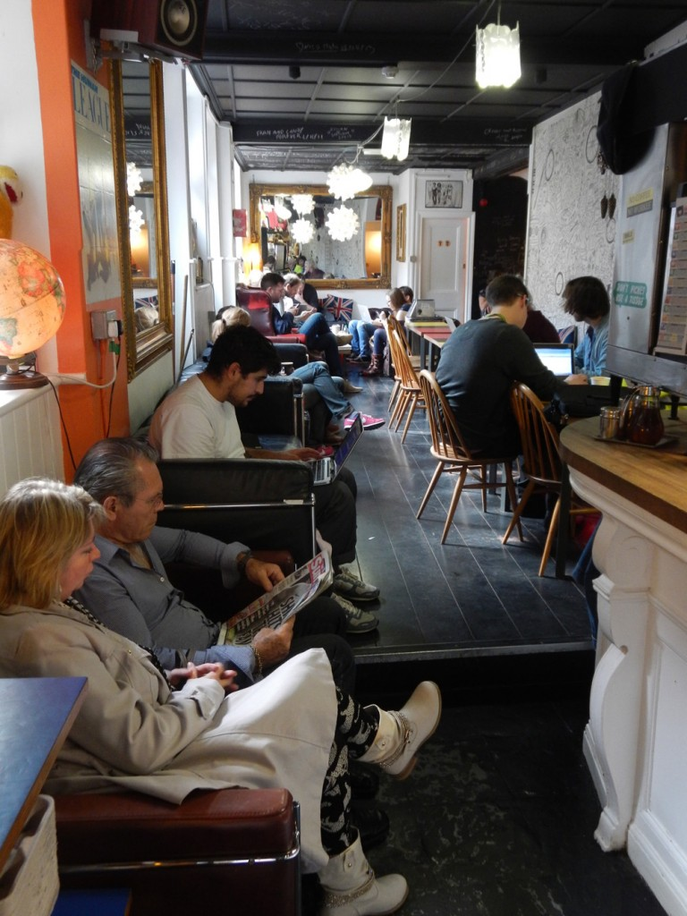 Coffee bar on London's Brick Lane, a rapidly gentrifying district (Photo: Jan Rath)
