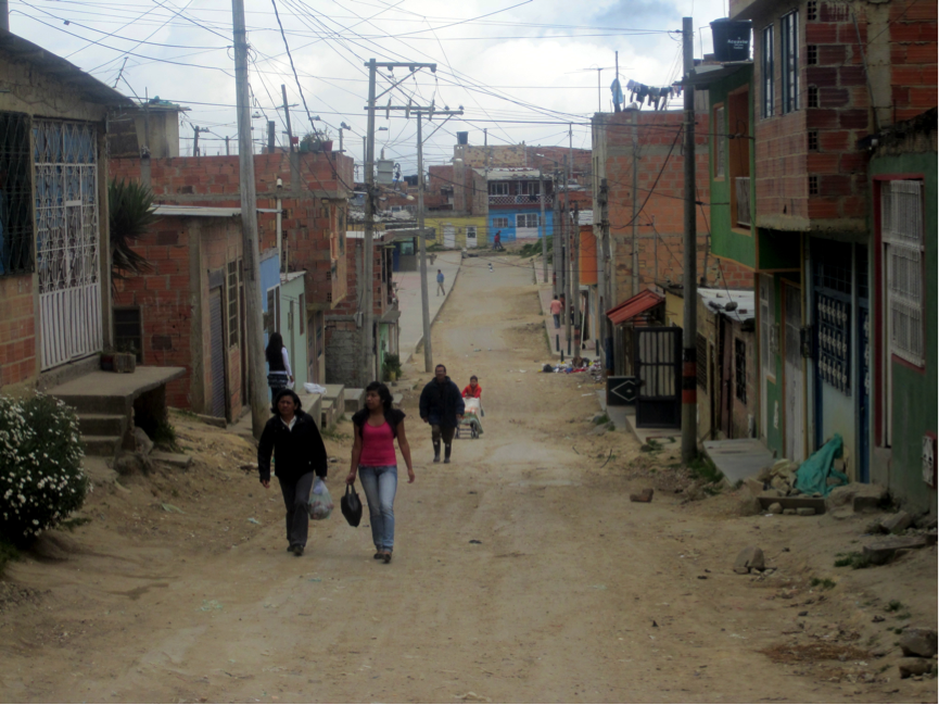 Proper bike infrastructure may be a bit less of a priority in this neighbourhood in the north of Bogotá