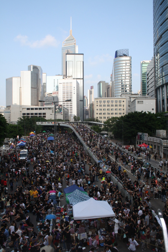Traffic on Hong Kong Island has been almost non-existent since the start of the student-led protests (Photo: Isabella Rossen)