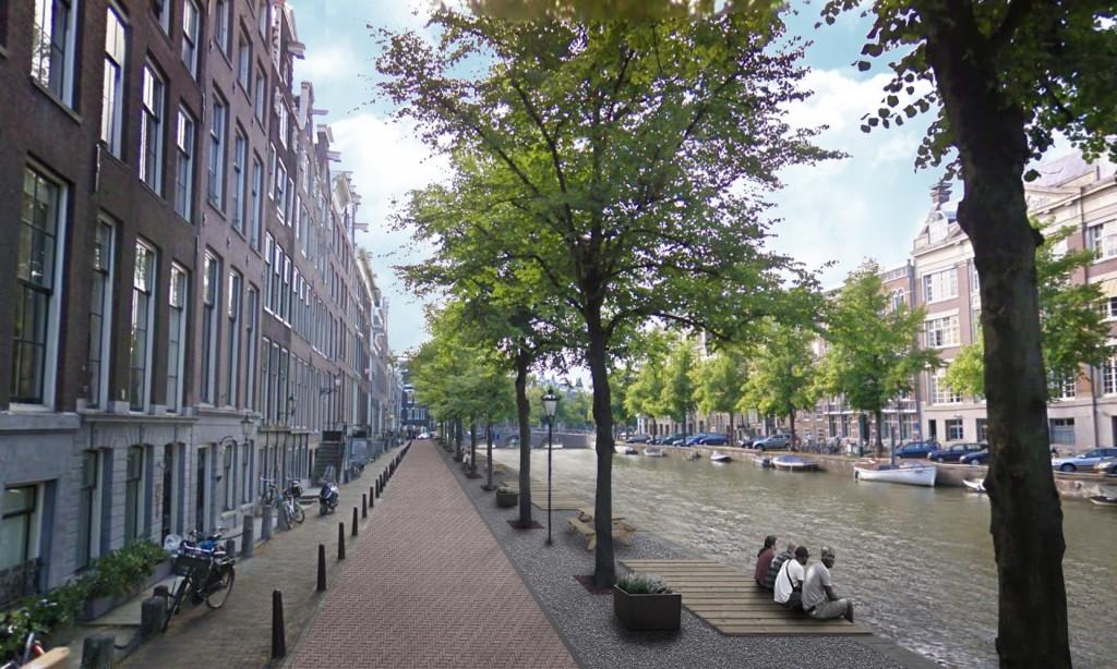 Walkable Amsterdam Canal - Urban Boulevard (Source: Louise de Hullu)