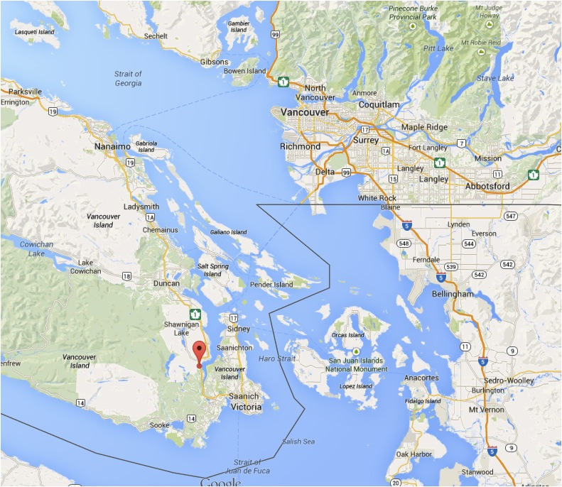 The Malahat Highway is roughly 3-4 hours from Vancouver including a 90-minute ferry ride. (Google Maps)