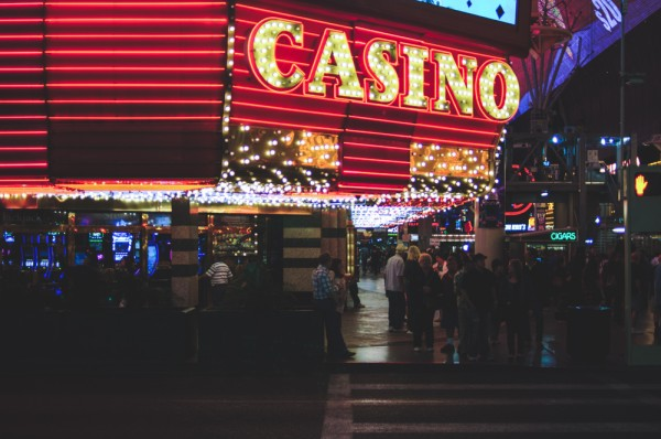 A casino entrance at the Fremont Street Experience (Photo: Adam Nowek)
