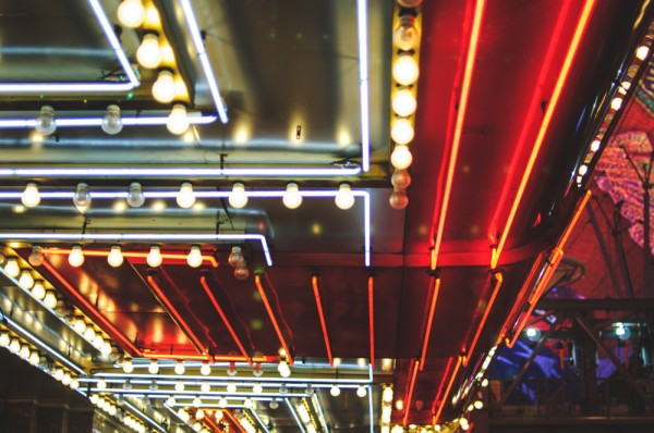 A close-up of a neon façade in Las Vegas (Photo: Adam Nowek)