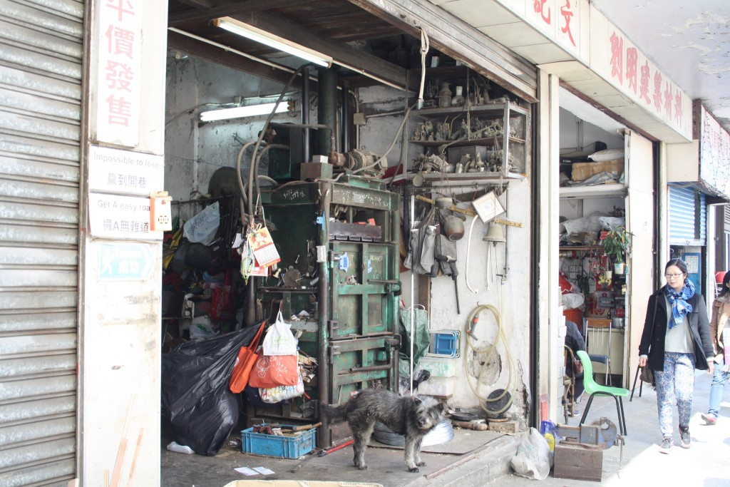 Motor repair workshops in Kennedy Town's side streets (Photo: Isabella Rossen)