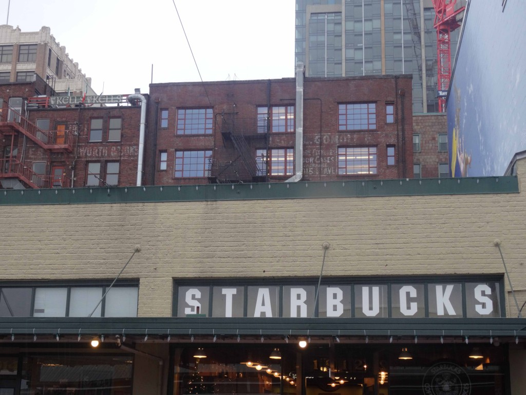 Starbucks at Pike Place Market. This is where it all started, back in 1971.  (Photo: Wietze Gelmers, Seattle)