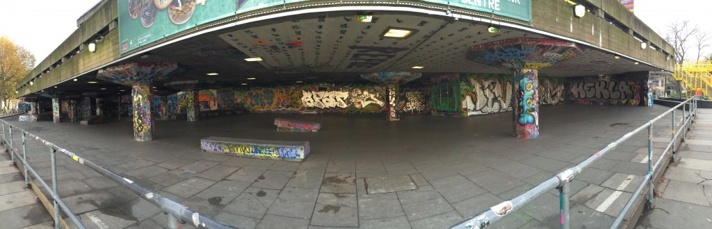 The Undercroft skate spot. (Source: Katherine VanHoose)