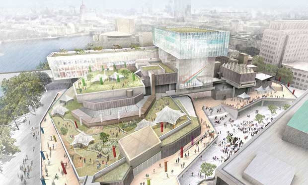 Visualization of redevelopment scheme presented by Southbank Centre in March 2013 (Source: Southbank Centre/PA)