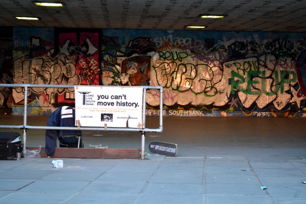 "The central message of the skateboarder's campaign: ""You Can't Move History"" (Source: Sophia Bennett)"
