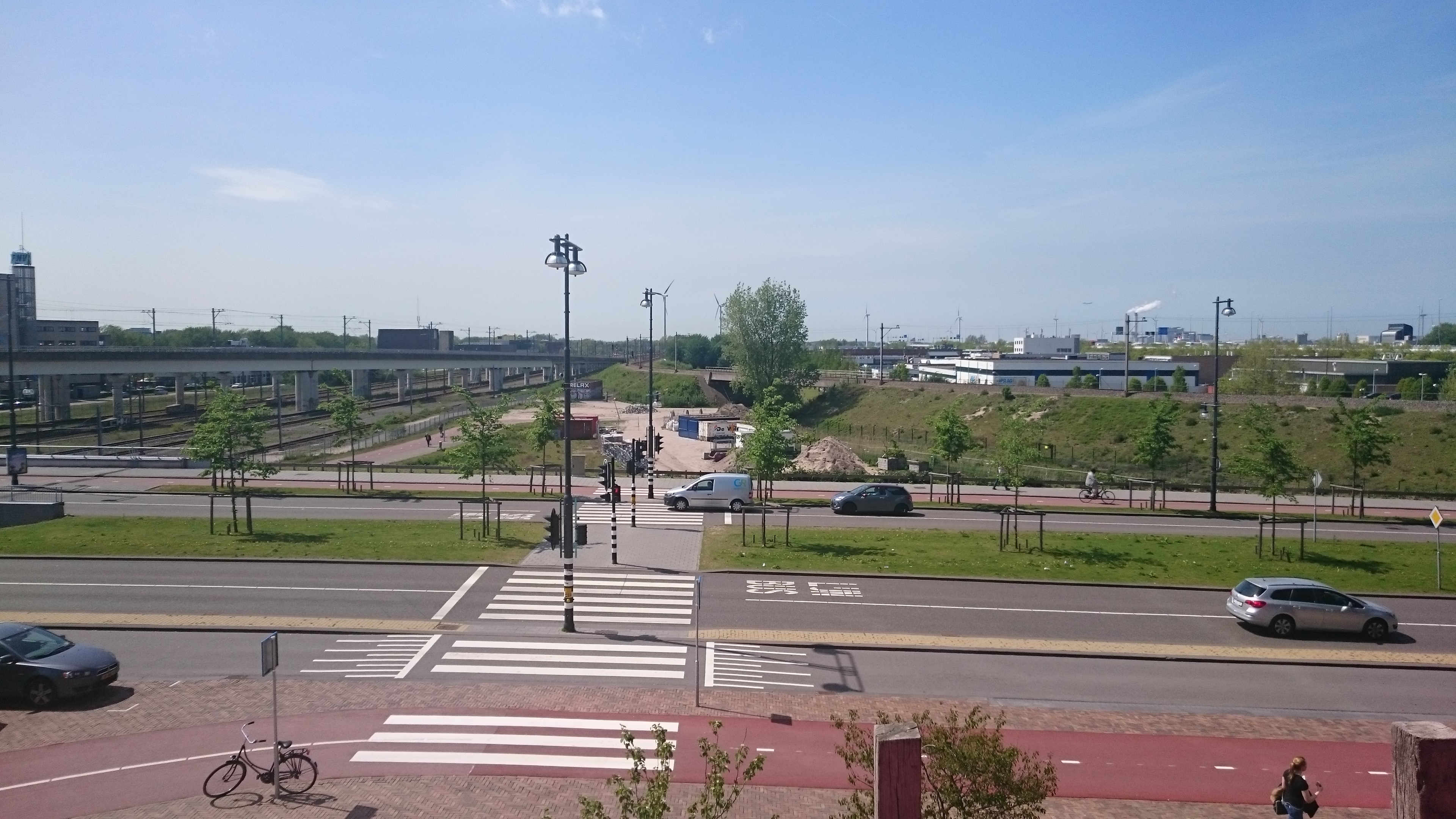 Initiated by Bret: the start of a craft village at the Sloterdijk station,  including a brewery, coffee roaster and a fungiculturer. Photo: author