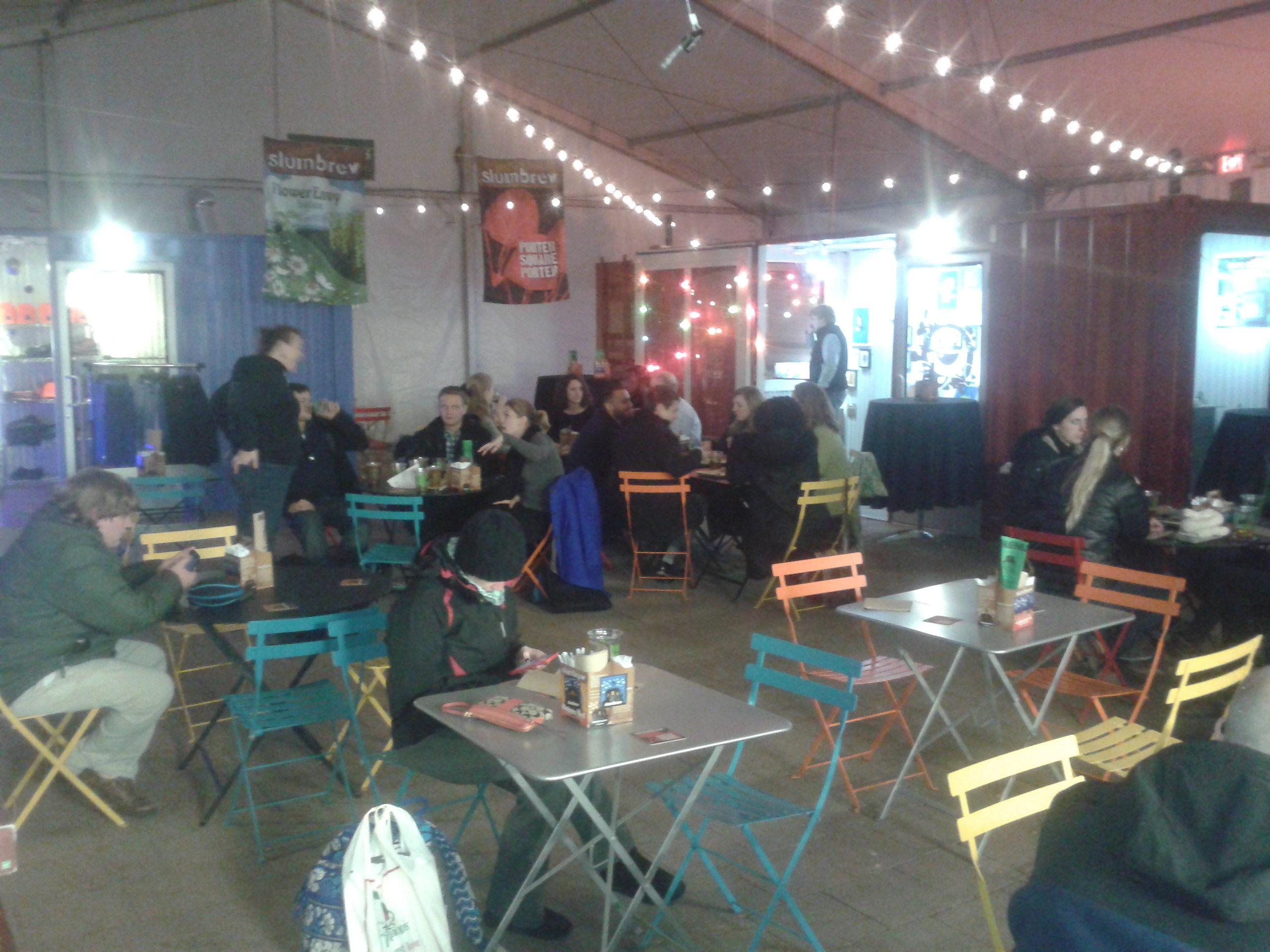 SBC beer garden. Photo: author