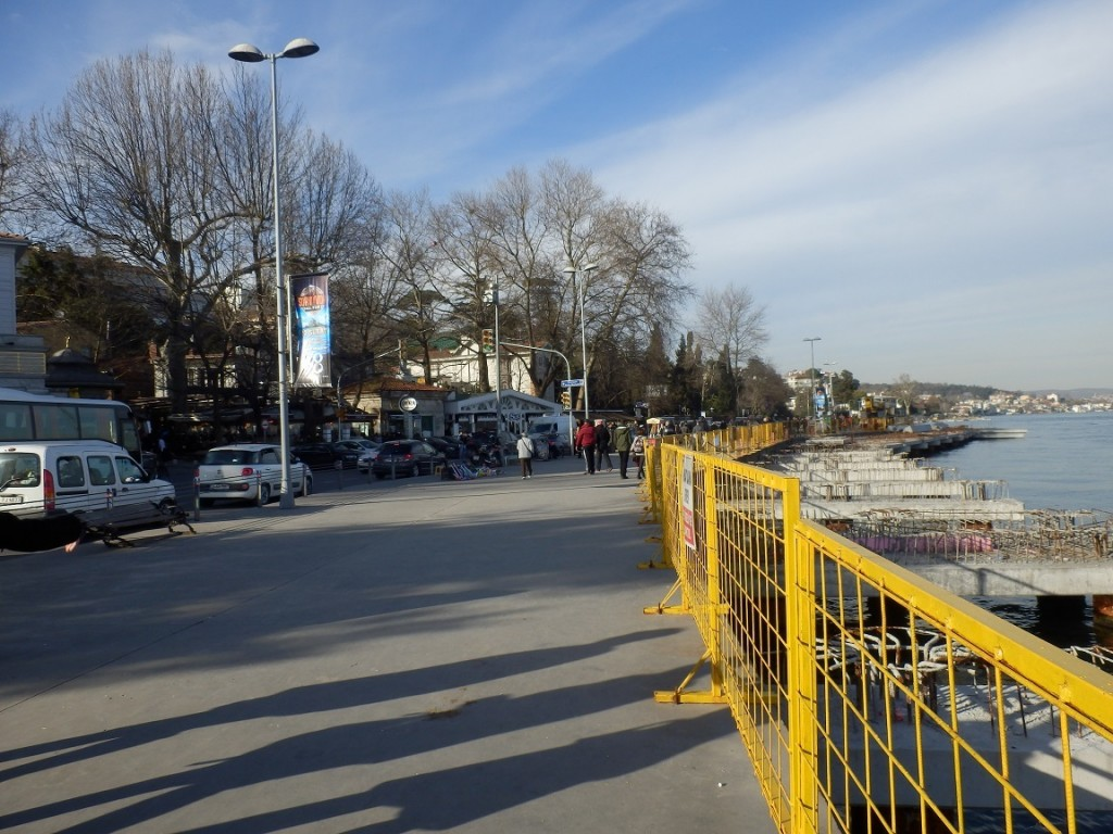 Unfinished Riprap Works in Emirgan