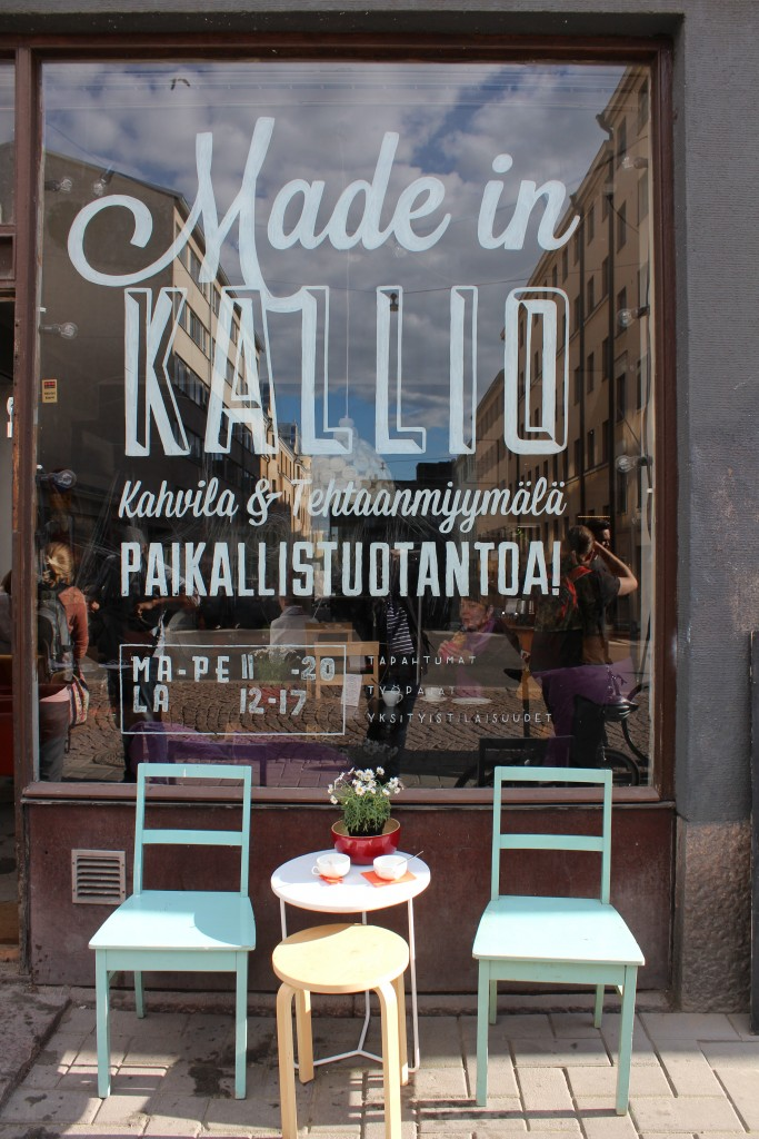 Our meeting up point was the Made in Kallio café, shop, and meeting space on Vaasankatu in Kallio. A relative newcomer to the street, it has a hipster-friendly vibe with mish-mash decor and regular community meetings.