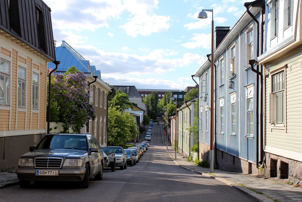 Picture-perfect street in Puu-Vallila.