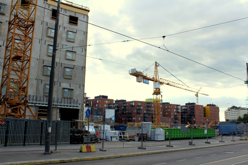 Keski-Pasila is currently one large construction site.