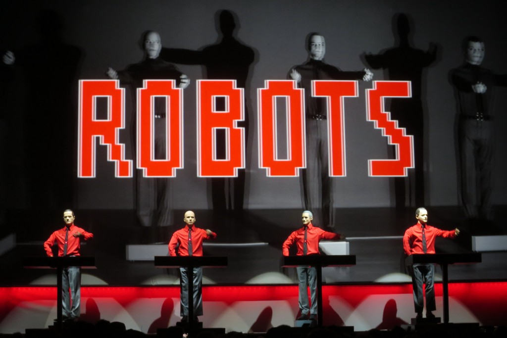 Kraftwerk performance, picture by author