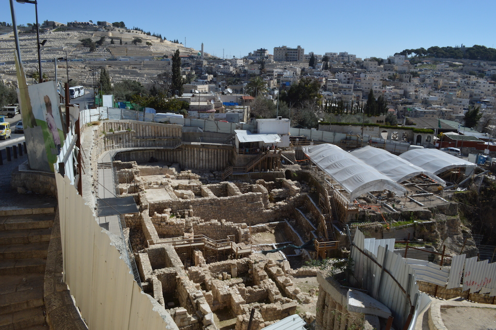 The Holy Basin with Silwan in the background. Photo by Maaike
