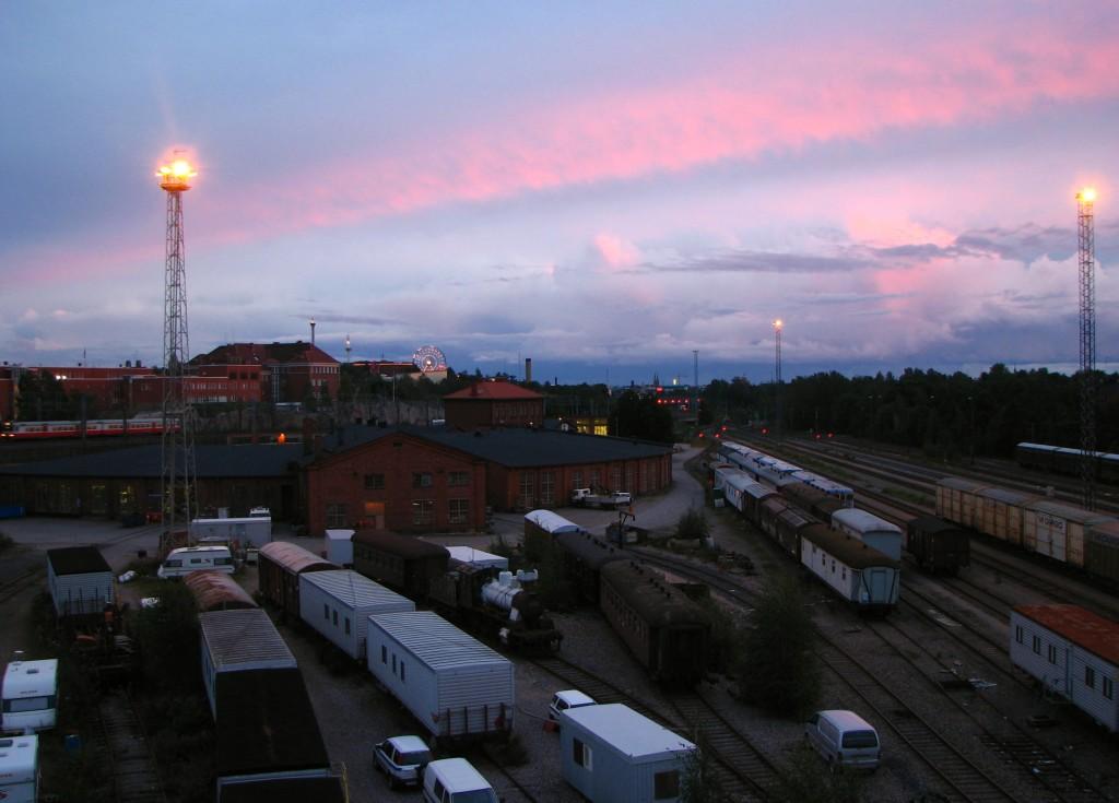 The old railway yard in Keski-Pasila in 2007. Photo courtesy of Timo-Pekka Heima.