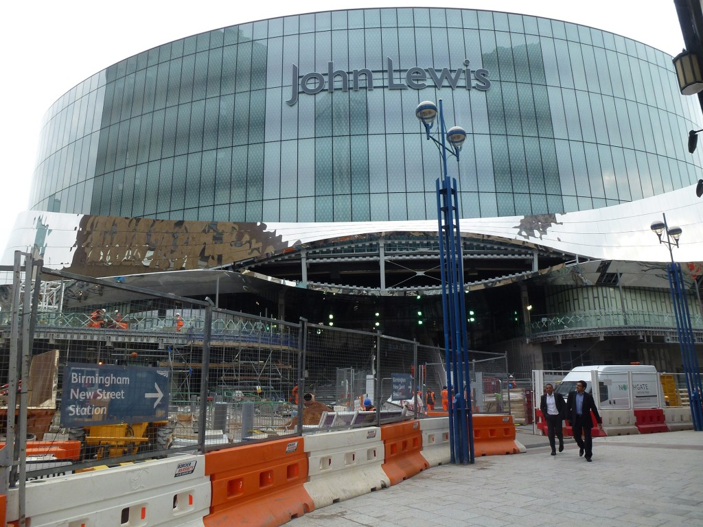 The new John Lewis department store, part of the new Grand Central shopping mall (Photo: Marco Bontje)