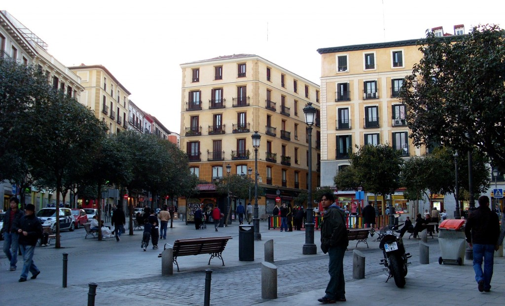 Lavapiés Square. Source: Flickr (Abi Skipp)