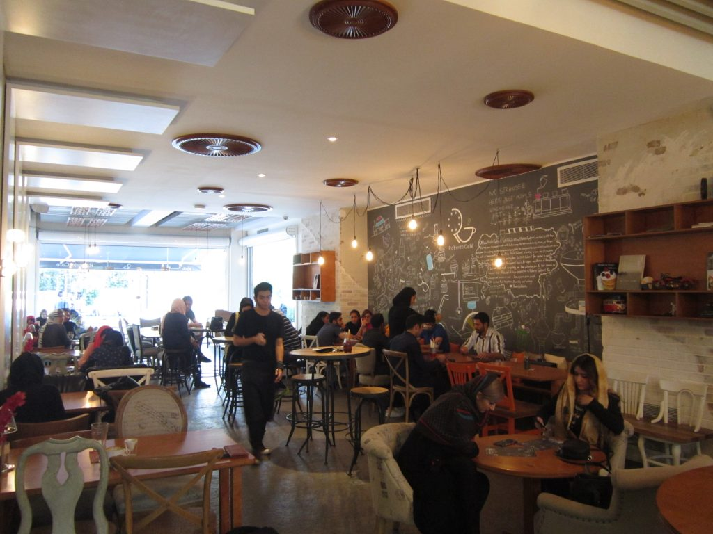 An example of a coffee society in Tehran. Author, July 2015