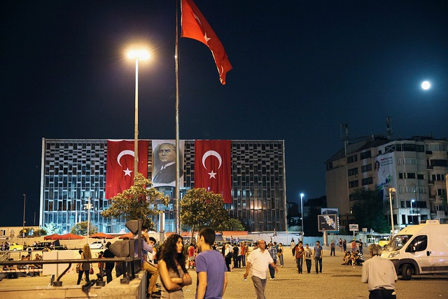 Taksim Square bedecked in flags: A.Nothstein