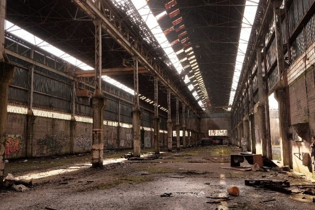 Abandoned tire factory.