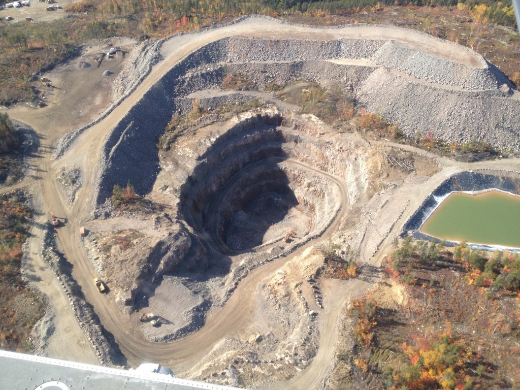 Open-pit lithium mine in Ontario, Canada (Photo by investingnews.com)