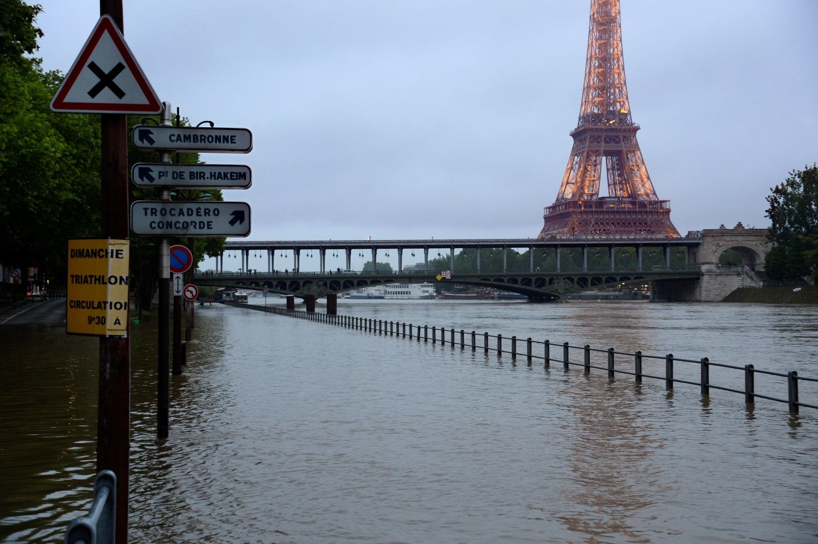 June 2016 flooding in Paris (Photo courtesy The International Business Times)