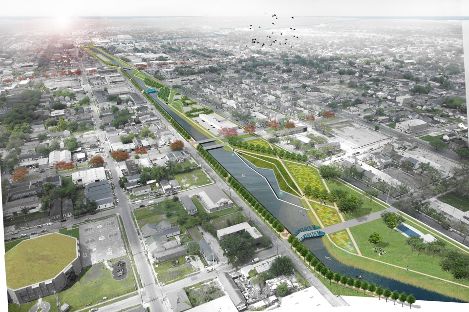 A architect's envisioning of an adaptive New Orleans using classic Dutch canals. (Photo courtesy The Atlantic)